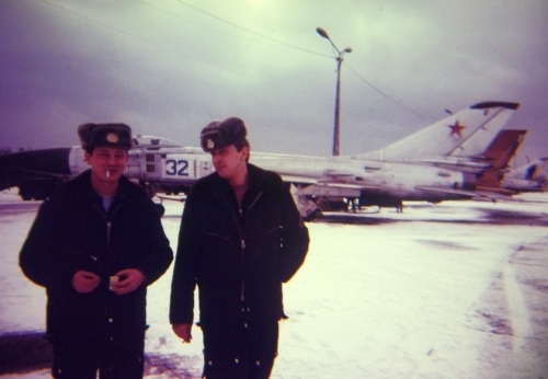 The Soviet 57th Guard Fighter Air Regiment PVO's Su-15TM 'Flagon-F'interceptors at the Besovets airport.