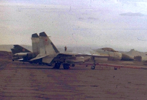 Early Soviet Su-27 Flanker-B at Nasonaya airport 19th Independent Air Defence Army PVO