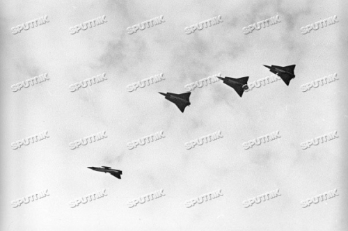 Swedish SAAB J-35 Draken at Kubinka USSR in 1972