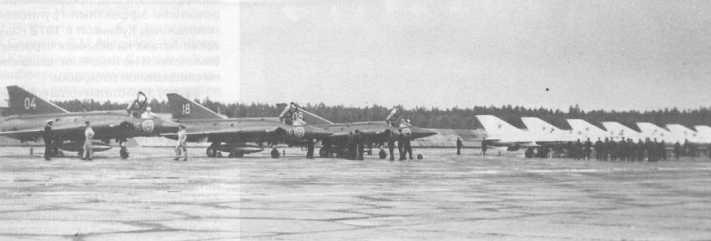 Swedish SAAB J-35 Draken at Kubinka Soviet Union in 1972