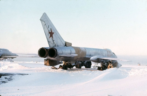 Tupolev Tu-128 Fiddler at the Amderma airport in the eighties.