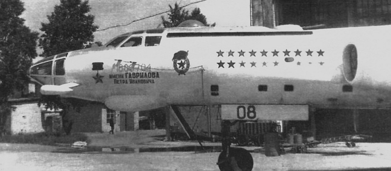 678th guard air regiment's Tu-16 Badger target missile carrier aircraft Sary Shagan in the eighties