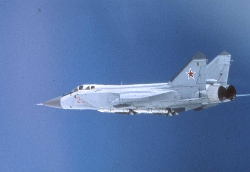 USSR MiG-31 Foxhound  Barents Sea in 1986