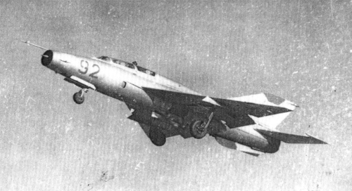 Soviet Air Force 27th Guard Fighter Air Regiment MiG-21UM  Mongol-B