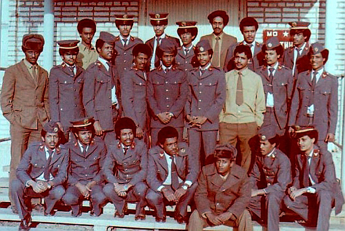 Soviet 5th Training Air Center Ethiopian, Yemen and Zimbabwe pilots in Kant airbase  Photo: Fomicheva A.P.
