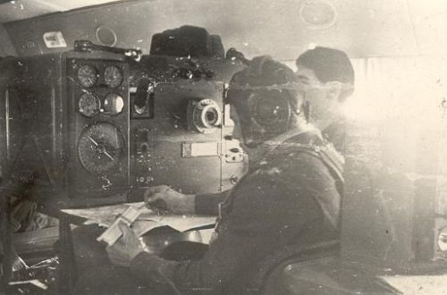 Soviet Navigator training flying classroom
