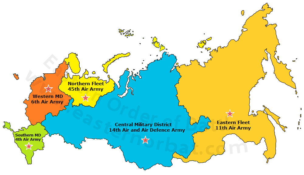 Russian Frontal Aviation Arms Order of Battle today